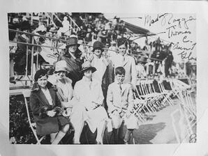Gladys & Marguerite in Cannes with their children